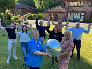Hospice unveils Strictly dancers
