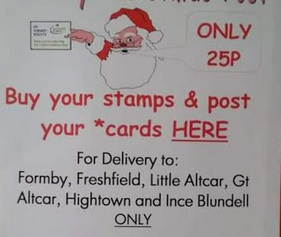 Post your christmas cards for just 25p with The 4th Formby Holy Trinity Scout Group