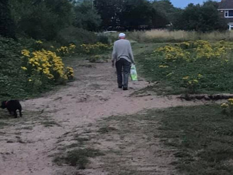 Local man 87, helps keep Formby clean on his walks by picking up other peoples litter