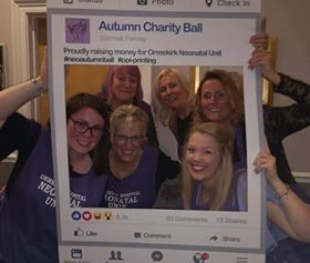 Charity Ball at The Gild Hall Formby raises over £4500 for Ormskirk Neonatal Unit