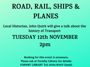 November Talk at Formby Library