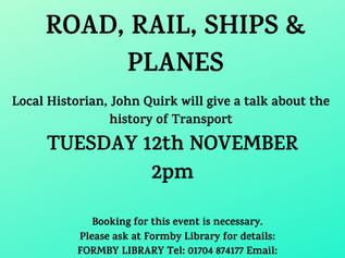 November Talk at Formby Library