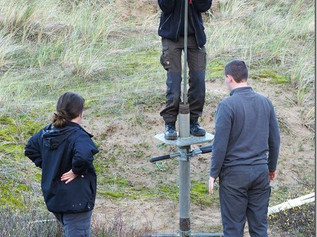 The National Trust in Formby have been busy installing dipwells across the site