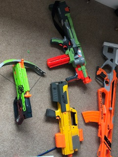 *** NOW SOLD *** Nerf gun and Nintendo Labo for sale