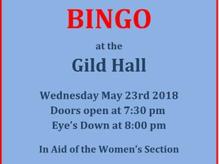 Bingo night in aid of The Royal Britsh Legion