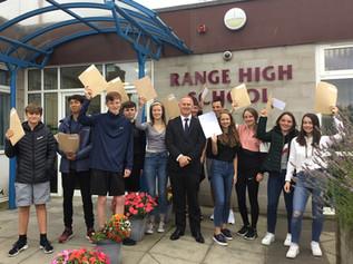 Range High School Pupils Celebrate GCSE Results