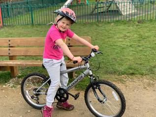 Amazing 7 year old cycling for Freshfields!