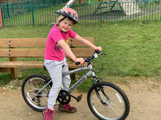 Amazing 7 year old cycling for Freshfields!