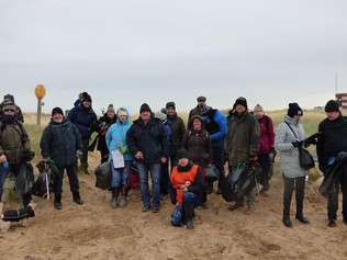 A staggering amount of litter has been cleaned from Formby beach thanks to local Marine Conservation