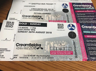 Creamfields, Sunday Gold Ticket + Shuttle bus