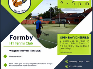 Formby Holy Trinity Tennis Club are seeking new members