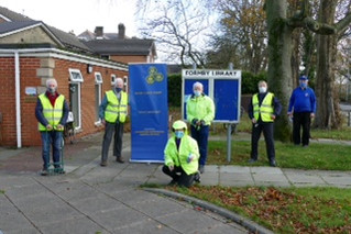 Combating Polio - Crocus planting by Formby Rotary Club