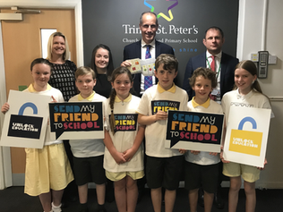 Trinity St. Peter's school have joined the campaign to unlock education for children around the