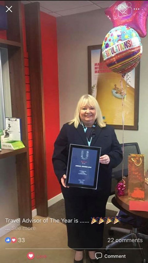 Formby Cruise expert wins the TUI Liverpool Travel Adviser of the Year award