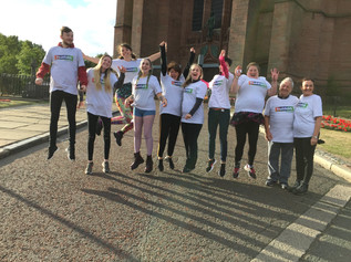 Liverpool Cathedral Charity Abseil for Freshfields Animal Rescue