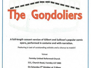 The Gondoliers are coming to Formby
