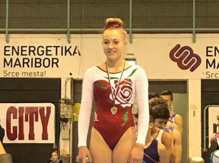 Formby girl takes the Gold Medal for England in Slovenia gymnastics