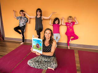 Lindsay joins forces with Doris the hedgehog to promote benefits of Yoga for children