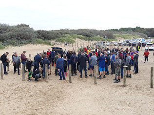 Victoria Road Beach, Formby gets a clean up as local volunteers help clean up 352kg of litter