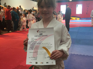 Erin Bannon has been crowned Formby's Unite Martial Art's youngest black belt