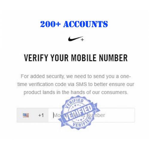 Verified Nike+/SNKRS Accounts (200+ / Bulk Pricing)