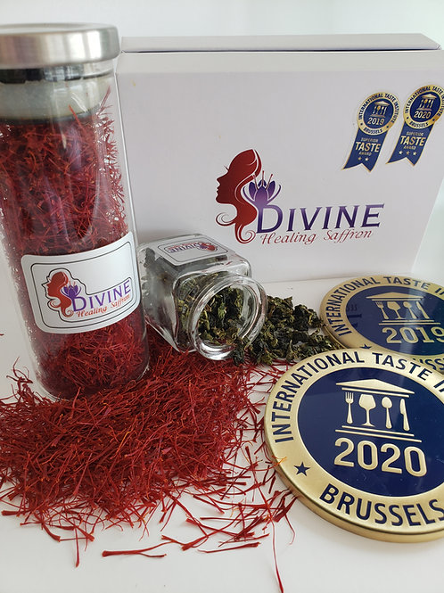 5 gm Red Organic Premium Saffron Threads with Green Tea