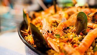 Portuguese Seafood Paella with Mussels.j