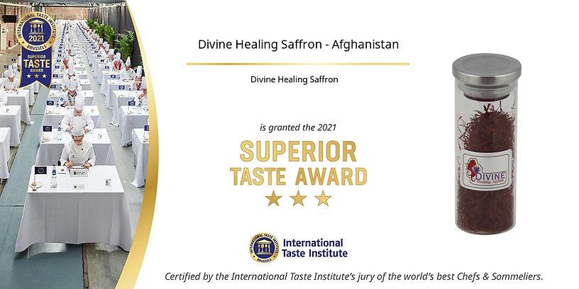 2021 Divine Healing Saffron - Afghanista