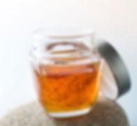 a jar with saffron blended honey.jpg