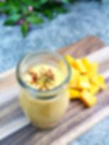 Mango Saffron Lassi - a yoghurt based tr