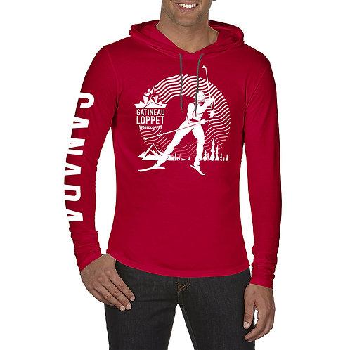 GL Hooded Long Sleeve Shirt - Unisex (Red)