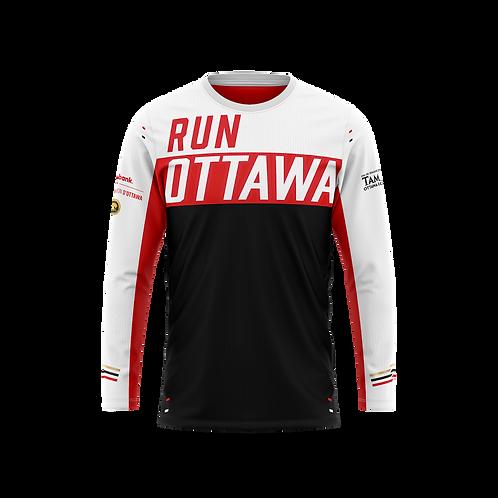 Ottawa Long Sleeve Shirt - Men + Women (Black/Red)