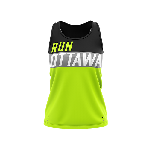 Ottawa Singlet - Men + Women (Black/Neon)