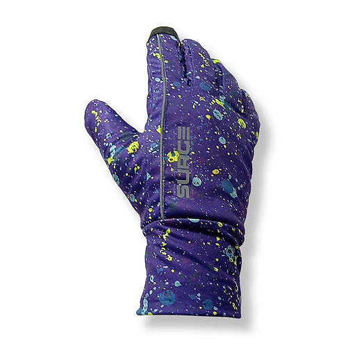 SURGE Winter Running Gloves - Purple Splat