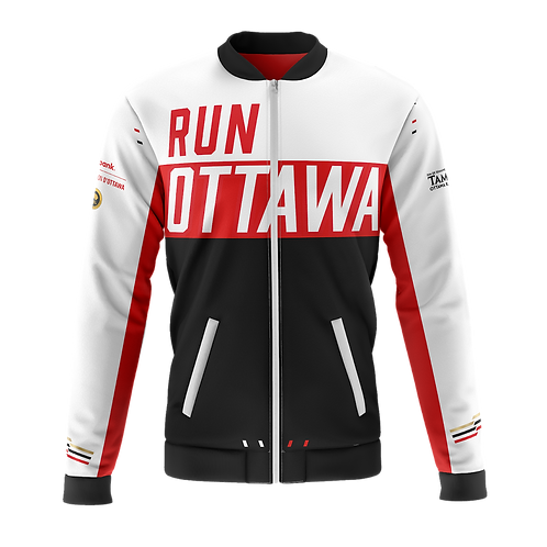 Ottawa Bomber Jacket - Men + Women (Black/Red)