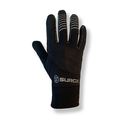 SURGE Performance Running Gloves - Black/Green Camo