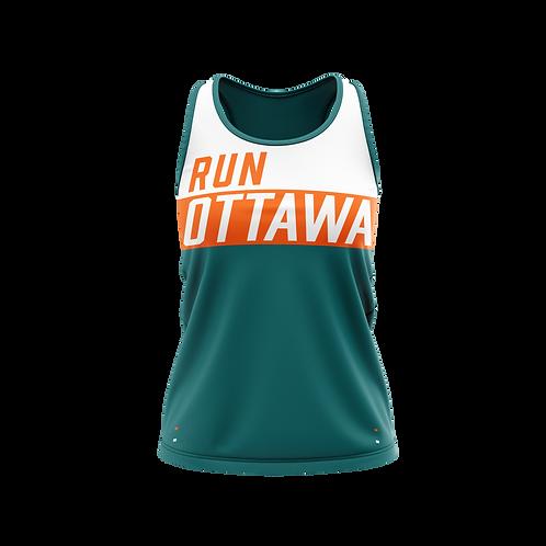 Ottawa Singlet - Men (Teal/Orange)