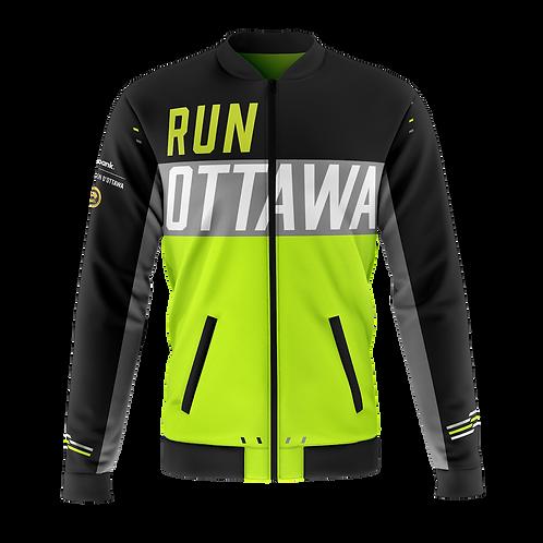 Ottawa Bomber Jacket - Men + Women (Black/Neon)