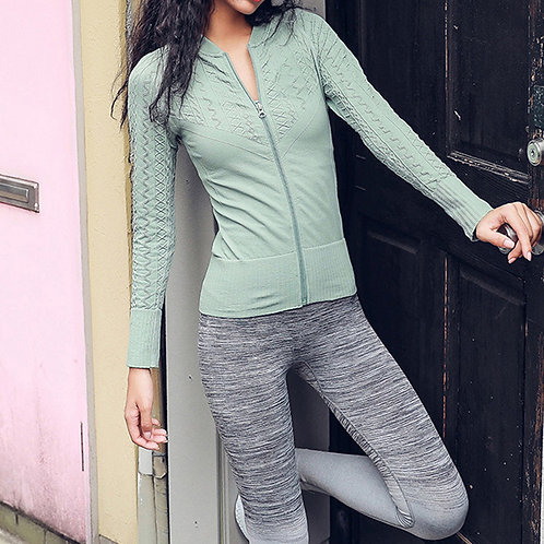 Amery Yoga Jacket - Frost Green