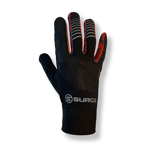 SURGE Performance Running Gloves - Black/Red Camo