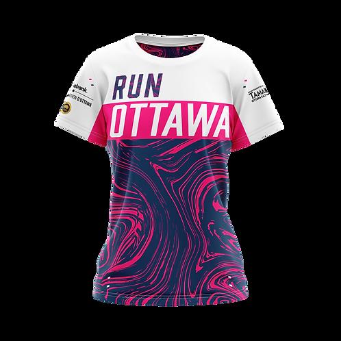 Ottawa Short Sleeve Shirt - Women (Blue/Pink)