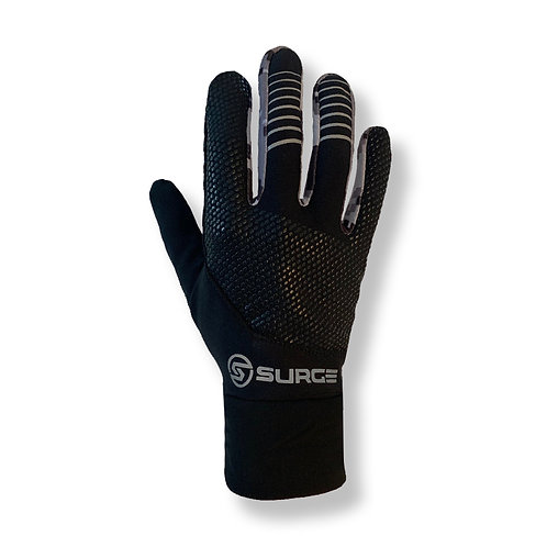SURGE Performance Running Gloves - Black/Grey Camo
