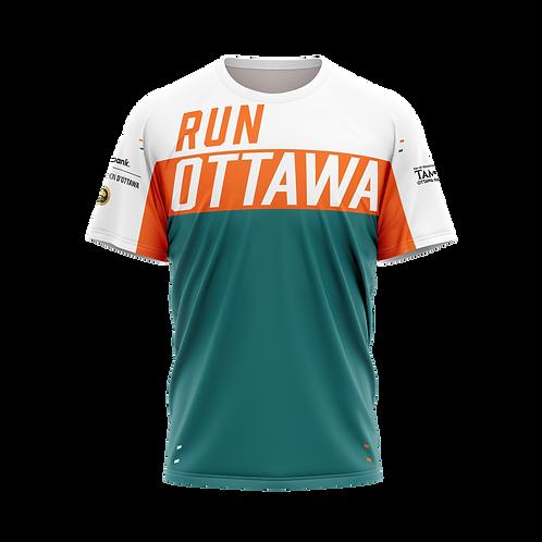 Ottawa Short Sleeve Shirt - Men (Teal/Orange)