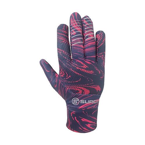 SURGE Performance Running Gloves - Pink Swirls