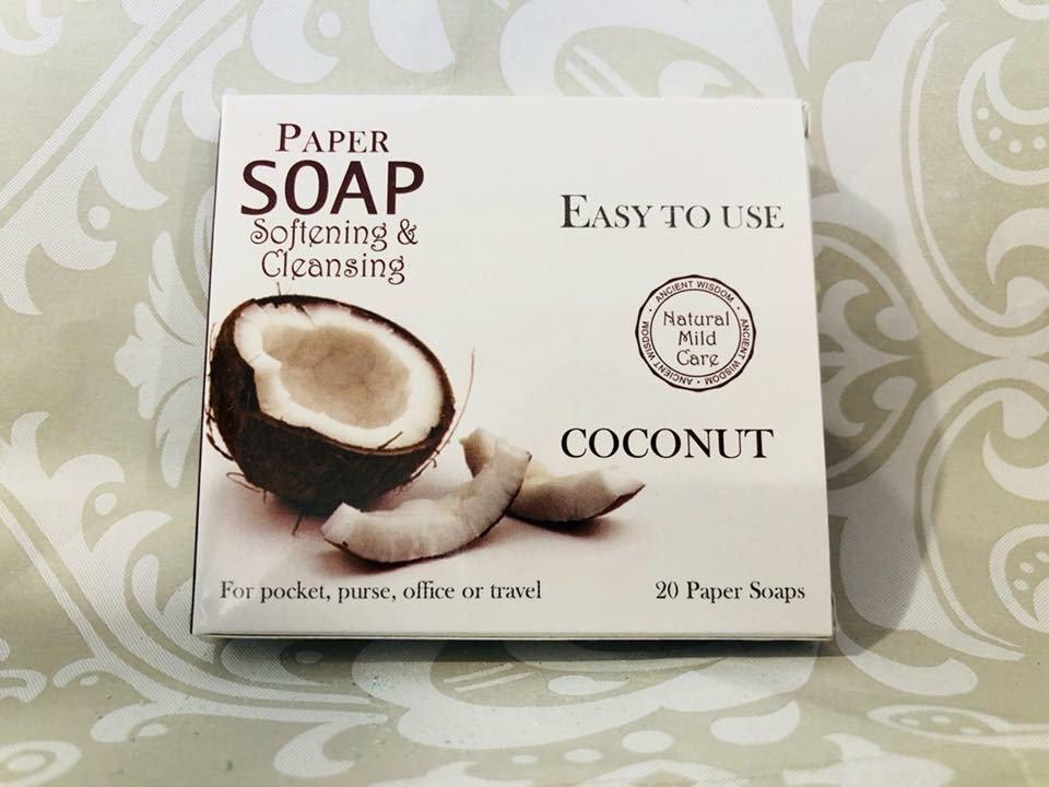 Paper soap- coconut | Take a peek boutique