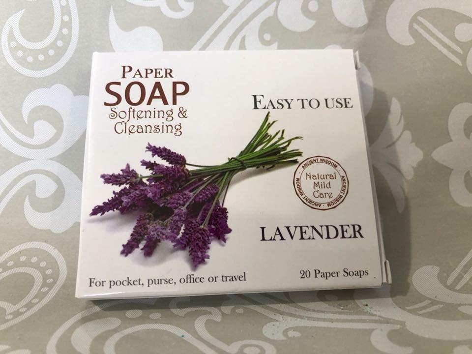 Paper soap- lavender