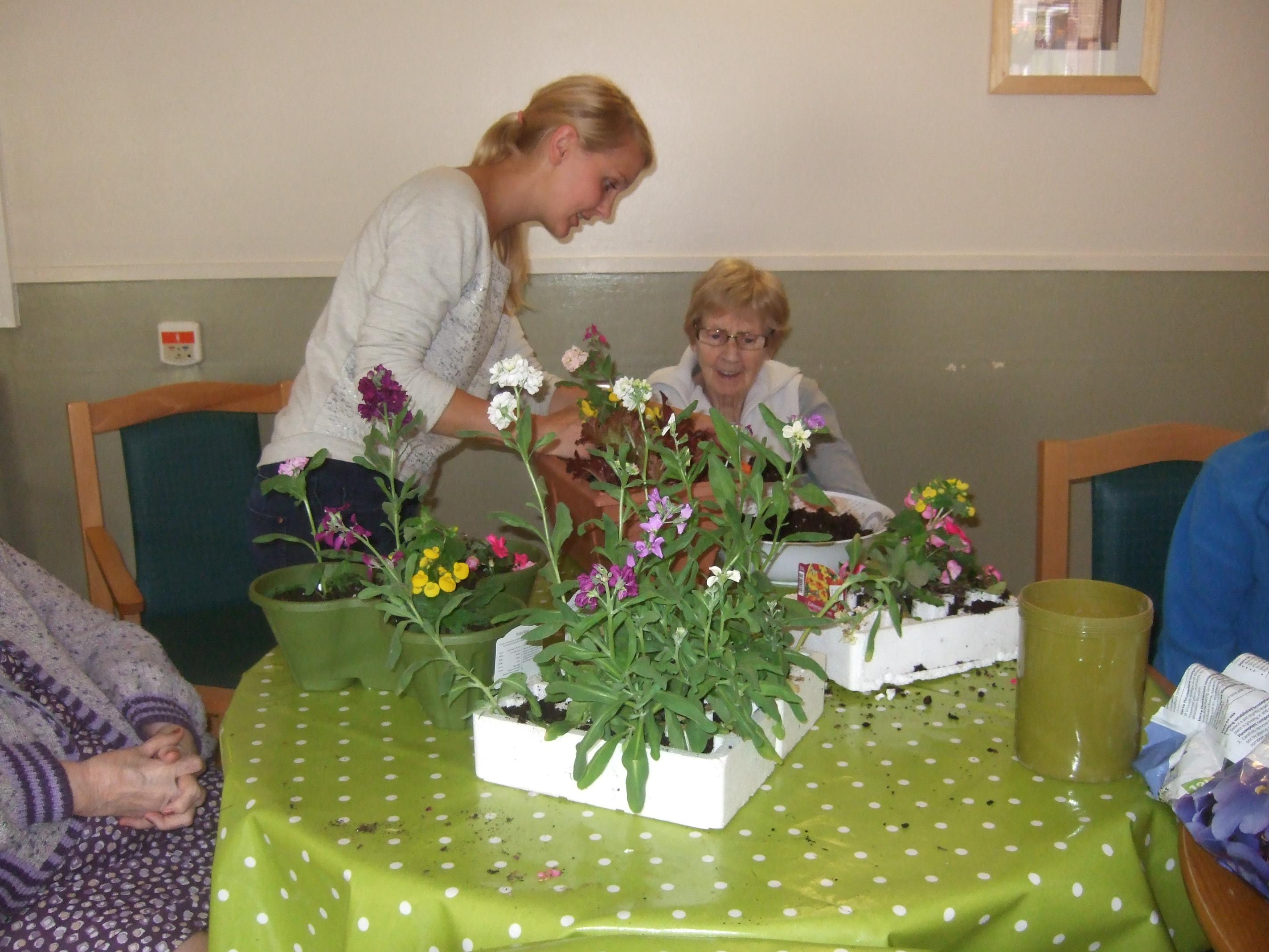 Flower cutting activities