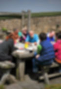 Farm staff lunch break
