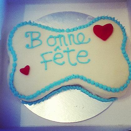 Lg Bone shaped cake/gâteau en  forme d'os