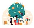 happy-tiny-people-growing-money-tree-iso
